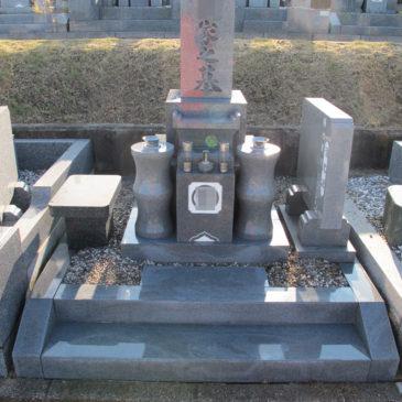 墓石特殊洗浄・コーティング施工前後