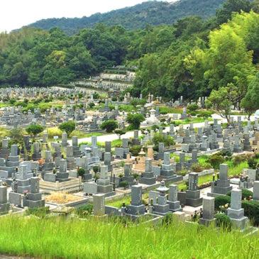 お彼岸の墓地